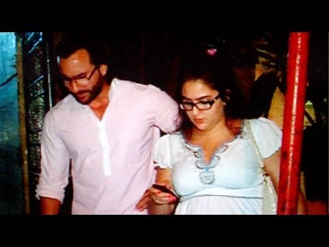 Baby's Day Out: Papa saif Spotted With Daughter Sara