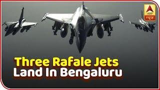 Three Rafale jets land in Bengaluru for Aero India show - ABPNEWSTV