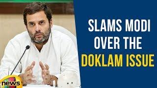 Rahul Gandhi Slams Modi Over The Doklam Issue | Karnataka Elections 2018 | Mango News - MANGONEWS