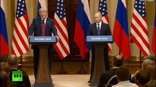 Putin-Trump meeting in Helsinki: News conference following summit - RUSSIATODAY