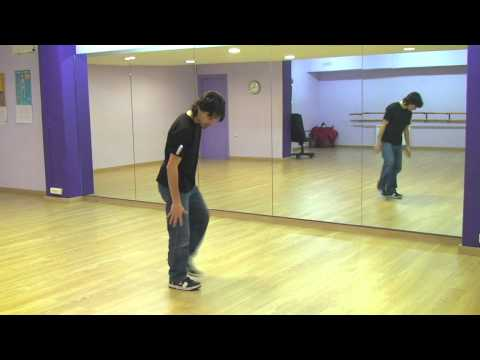 Kneedrop Break Dance hip hop  how to basic step tutorial como aprender pasos Kneedrop