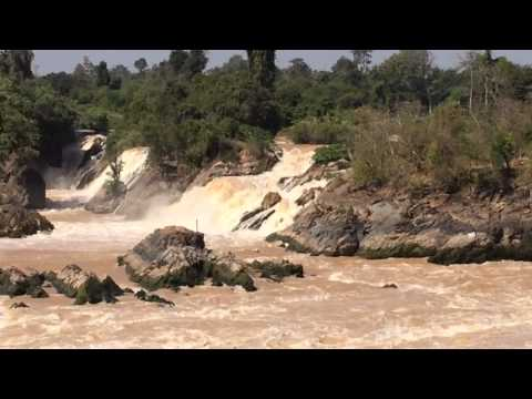 Waterfalls in Don Det, Siphandon, Champasak, Laos