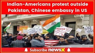 Indian American community stage protest outside Pakistan & Chinese embassy in US - NEWSXLIVE
