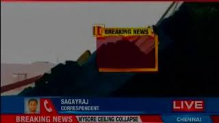 Mysore: School ceiling collapses due to rains, 15 students hospitalised - NEWSXLIVE