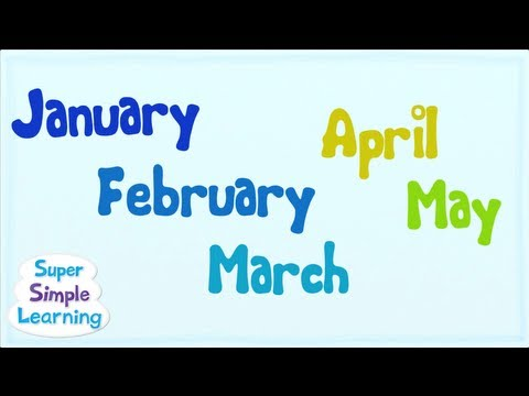 The Months Chant from Super Simple Songs™