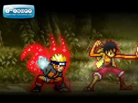 Naruto vs Luffy [Sprite fight]