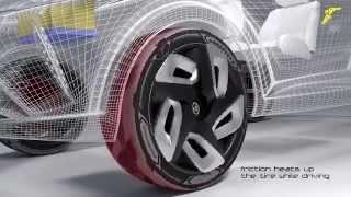 فيديو جوديير تطلق إطارات جديدة تشحن بطارية السيارة الكهربائية