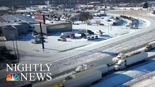 Snow And Record Breaking Cold In The South | NBC Nightly News - NBCNEWS