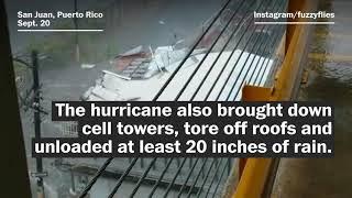 Hurricane Maria brings extreme wind and rain to Puerto Rico - WASHINGTONPOST