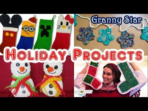 Vlog - Christmas/Winter Gift Ideas & Home Decor Projects - Crochet