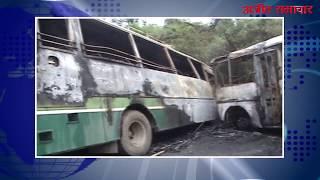 video : पठानकोट : दो बसों की टक्कर में कई यात्री घायल