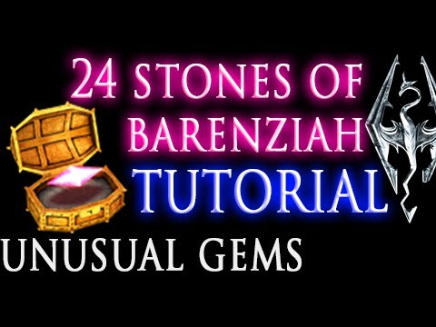 Skyrim: Stones of Barenziah (unusual gems) & [No Stone Unturned quest]