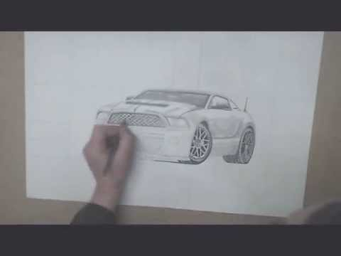 How to draw a car, see it, music by The MasterBakers.