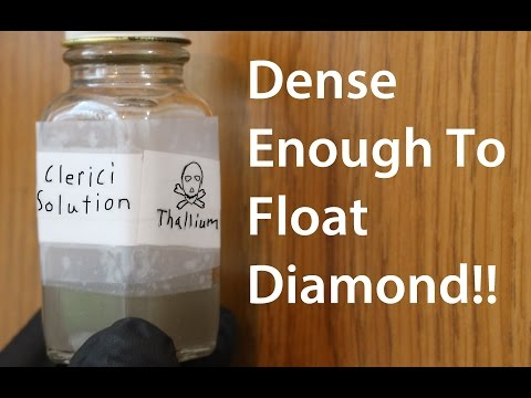 Making Clerici's Solution; The Heaviest Water Based Liquid?