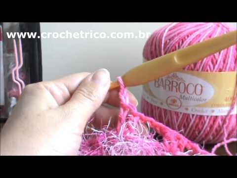 Crochê - Tapete Barroco em Ponto Escama - Parte 02/05
