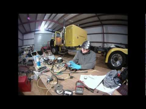Custom Peterbilt HO359 Caterpillar engine wiring harness build and install...