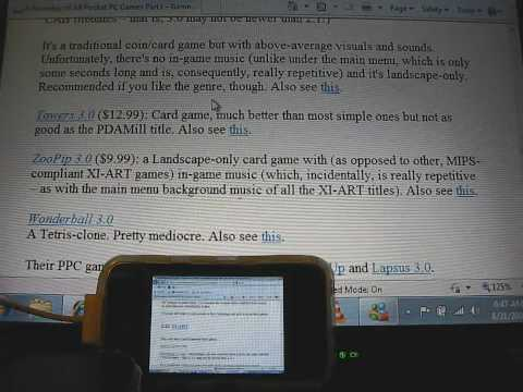 VNC Pocket Office on the iPhone - 16bit color, smooth