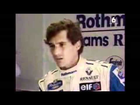 Ayrton Senna reaction on fatal Roland crash (rare)
