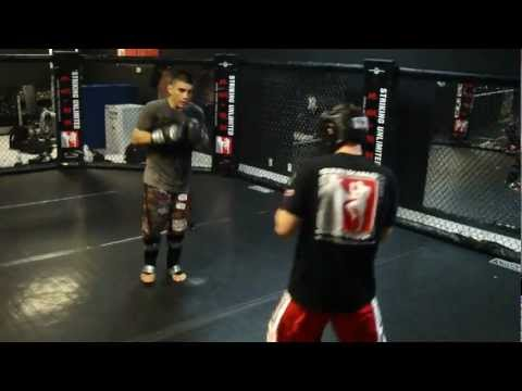 Pro MMA Fighter's hard  sparring