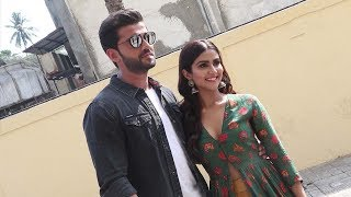 Zaheer Iqbal and Pranutan Bahl's Visual at Trailer Launch of there upcoming film Notebook - HUNGAMA