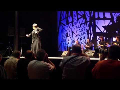 Maria Moreno Pérez Baila por Tarantos en el Festival Internacional del Cante de las Minas 2013
