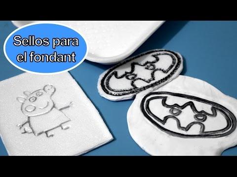 Cómo hacer sellos para el fondant: Pepa pig y Batman
