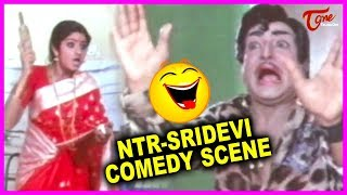 Sri Devi & NTR Combinational Hit Comedy Scenes Back To Back | TeluguOne - TELUGUONE