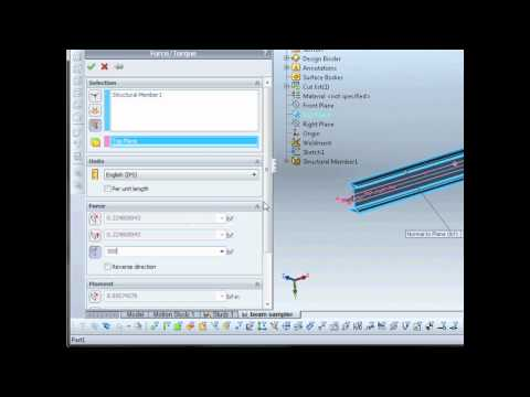 SolidWorks Simulation 2011- Non-Uniform Loading for Beams