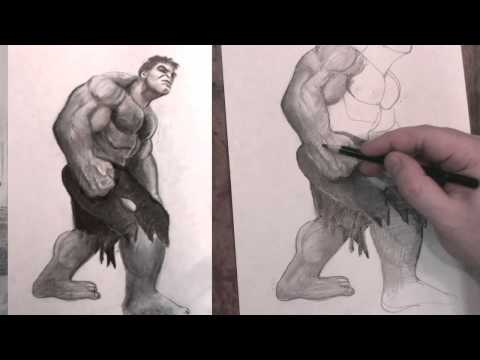 How to Draw the Incredible Hulk Avengers Step by Step