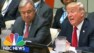 President Donald Trump Opens U.N. Reform Meeting With Call For Burden-Sharing | NBC News - NBCNEWS