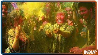 Delhi To UP, People Celebrate Holi With Full Enthusiasm - INDIATV