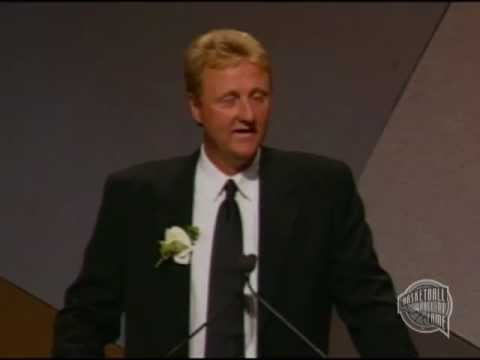 Larry J. Bird's Basketball Hall of Fame Enshrinement Speech