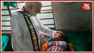 PM Modi Visits Injured BJP Workers In Hospital After Midnapore Tent Collapse - AAJTAKTV