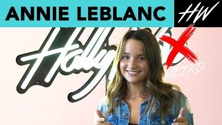 Annie LeBlanc Calls Out Her Weirdest Secret Habit!! | Hollywire - HOLLYWIRETV
