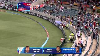 WI vs ZIM: Gayle gets to a fifty against Zimbabwe. Watch ICC World Cup videos at starsports.com - ESPNSTAR