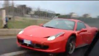 Ferrari 458 összetörése