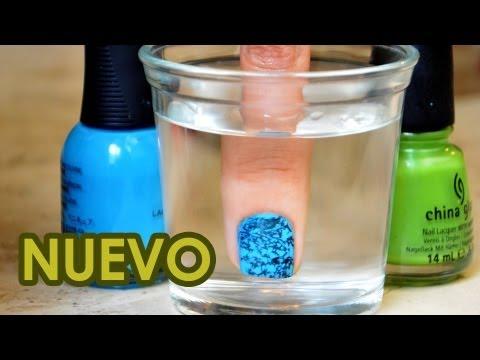 Nueva técnica para decorar uñas con agua   Uñas decoradas con esmalte   Decoración con agua