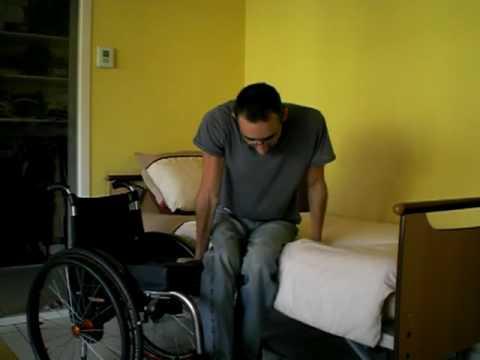 Quadriplegic C5-C6  bed transfer