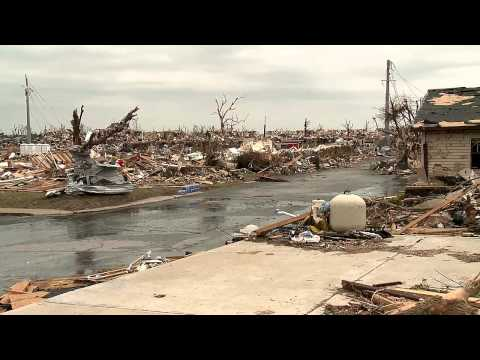 360 Degree (nearly) video pan shot of Joplin, Missouri Tornado Destruction