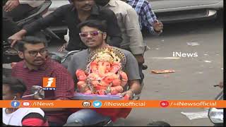 Ganesh Nimajjanam 2018 | Ganesh Idols Passing at MJ Market For Immersion | iNews - INEWS