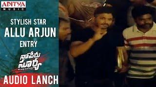 Allu Arjun Entry @ Naa Peru Surya Na Illu India Audio Launch - ADITYAMUSIC