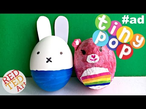 Miffy Egg Decorating DIY & Cheer Bear Egg Decorating How To - sponsored by Tiny Pop