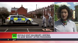 'Boost' Salisbury: Royals visit place where Skripals were poisoned - RUSSIATODAY