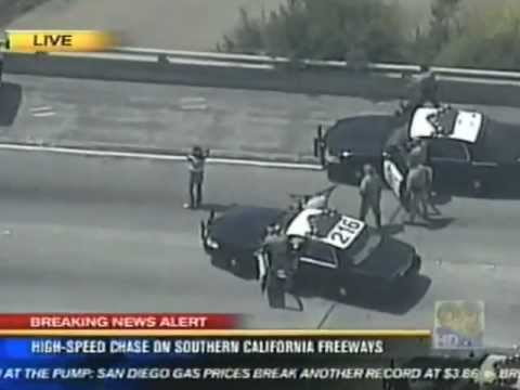 High Risk Traffic Stop - San Diego CHP &amp; &quot;H-60&quot; Helicopter