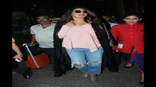 In Graphics: Priyanka Chopra returned India from New York see Airport pictures - ABPNEWSTV