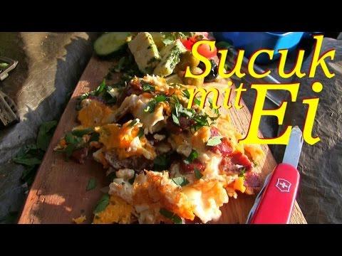 Sucuk (Knoblauchwurst) mit Ei - Waldläufer Rezept