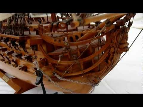 HMS Victory Scale Wooden Model Ship