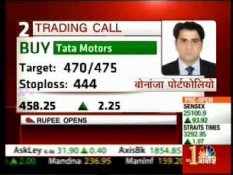 CNBC Awaaz Pehla Sauda 15 July 2014 Puneet Kinra Bonanza Portfolio View On TATA Motors
