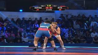 PWL 3 Day 4:  Helen Maroulis Vs Sangeeta Phogat at Pro Wrestling League Season 3 | Highlights - NEWSXLIVE