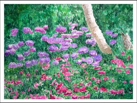 Cuadros de flores en oleo y acuarela